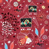 La texture des configurations d'automne et de la créatine fabuleuse Images stock