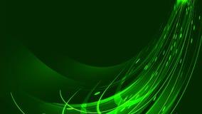 La texture des lignes au néon brillantes lumineuses rougeoyantes magiques vertes abstraites des bandes de vagues des fils de l'én illustration de vecteur