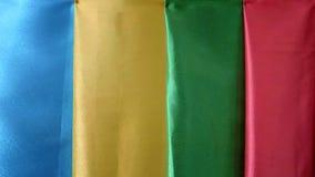 La texture des tissus colorés clips vidéos