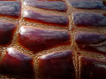 La texture du cuir Cuir de Brown photographie stock