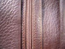 La texture du cuir Cuir de Brown images libres de droits