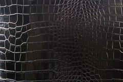 La texture du cuir dans le noir Cuir verni Photo libre de droits