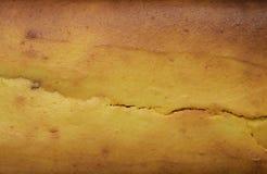 La texture du gâteau au fromage jaune a juste soutenu la vue supérieure de couleur jaune citron fraîche Photo libre de droits