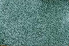 La texture du plan rapproché de cuir véritable, façonnent la couleur verte Pour le fond, contexte, substrat, utilisation de compo Photo stock