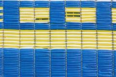 La texture du vieux et sale tapis en plastique pour le fond Images libres de droits