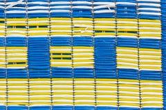 La texture du vieux et sale tapis en plastique pour le fond Image libre de droits