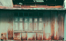La texture du vieux modèle en bois de fenêtre Images libres de droits