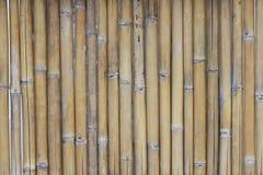 La texture en bambou en gros plan, barrière naturelle modèle des milieux pour la décoration à la maison, bâton de pilier Photo stock
