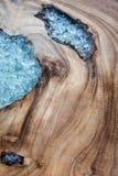 La texture en bois a décoré le verre Image stock