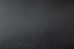 La texture en cuir noire, se ferment, fond photo libre de droits