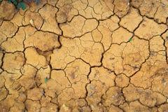 La texture est déshydratée a gercé la terre, Crète, Grèce Photo libre de droits