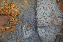 La texture est métallique Fond industriel d'un vieux rouillé photo stock
