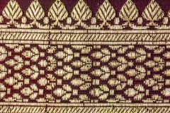 La texture indienne traditionnelle de tissu avec des modèles peut être employée comme b image stock