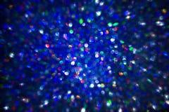 La texture légère de fond, soustraient les lumières bleues brouillées Images stock