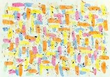 La texture lumineuse colorée d'aquarelle avec des égouttements et éclabousse Images libres de droits