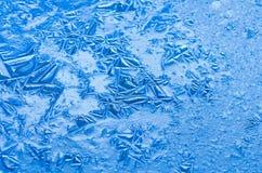 La texture, modèles sur l'étang glacent le réveillon de Noël Photo libre de droits