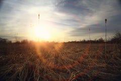 La texture opacifie le bleu d'éternité de coucher du soleil Photos libres de droits