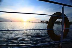 La texture opacifie le bleu d'éternité de coucher du soleil Photographie stock