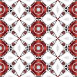 La texture ou le fond blanche propre abstraite avec le modèle rouge moderne a rendu sans couture Photographie stock libre de droits