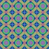 La texture ou le fond colorée abstraite avec le modèle de cercle a rendu sans couture Images stock
