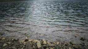 La texture ou le fond des pierres dans l'eau du lac images libres de droits