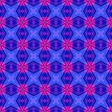 La texture ou le fond géométrique rose bleue abstraite a rendu sans couture Images libres de droits