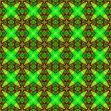 La texture ou le fond géométrique verte fluorescente abstraite a rendu sans couture Images stock