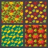 La texture sans couture de modèle de l'érable laisse à fond d'automne l'illustration naturelle de vecteur de décoration de saison Images stock