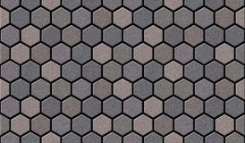 La texture sans couture de trottoir de brique de pavé rond se relie sans fin Image stock