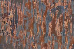 La texture sans couture du mur de garage en métal s'est rouillée Photos stock