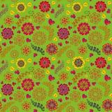 La texture sans couture florale fleurie, modèle sans fin avec des fleurs ressemble à rétro Photos libres de droits