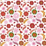 La texture sans couture florale fleurie, modèle sans fin avec des fleurs ressemble à rétro Configuration sans joint Image libre de droits