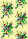 La texture sans joint de la fleur Image libre de droits