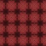 La texture tricotée checky de marsala abstrait a rendu sans couture Photographie stock libre de droits