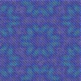 La texture tricotée par bleu abstrait avec le modèle de fleur a rendu sans couture Photos stock
