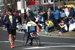 la 118th maratona di Boston ha avuto luogo a Boston, Massachusetts, lunedì 21 aprile il giorno 2014 dei patrioti fotografia stock