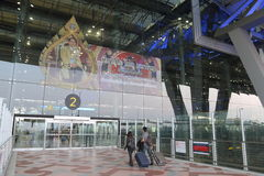 La Thaïlande : Aéroport de Suvarnabhumi Photo stock