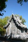 La Thaïlande argentent le temple/temple construits avec de l'argent photo stock