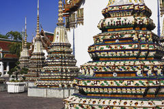 La Thaïlande, Bangkok, Pranon Wat Pho image libre de droits