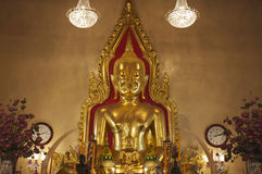 La Thaïlande, Bangkok, temple de Traimit image stock