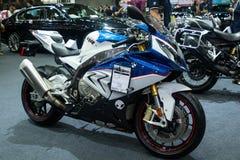 La Thaïlande - décembre 2018 : corps haut étroit de la motocyclette de BMW S 1000 rr présentée dans l'expo Nonthaburi Thaïlande d photographie stock