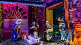 La Thaïlande - 3 décembre, Maria Scène extérieure de nativité de la vie-siz Image stock