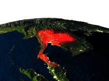 La Thaïlande de l'espace la nuit illustration de vecteur