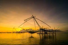 La Thaïlande de pêche nette Photo libre de droits