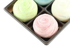 La Thaïlande des bonbons colorés à Mochi dans la boîte noire de d'isolement Photo libre de droits