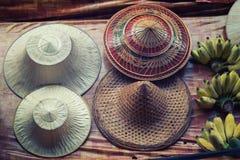 La Thaïlande et les chapeaux photographie stock