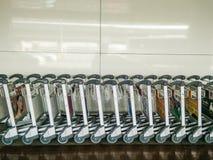 LA THAÏLANDE - Février 11,2017 : La brouette d'aéroport de Don Mueang est Images stock
