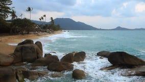 La Thaïlande, Ko Samui, plage de Lamai banque de vidéos