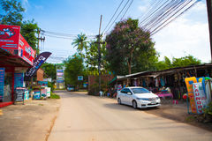La Thaïlande Koh Chang Kai Bae Beach Street Image libre de droits