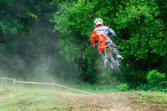 La Thaïlande, Lampang-motocross images libres de droits